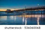 newport beach pier   after... | Shutterstock . vector #536060068