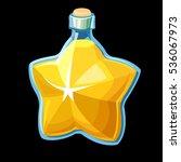 potion in star shaped bottle ...