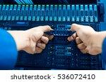 people fix core switch in... | Shutterstock . vector #536072410