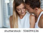 beautiful couple in love.... | Shutterstock . vector #536094136