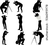 photographers silhouettes... | Shutterstock .eps vector #536095978