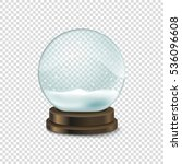 transparent crystal ball with... | Shutterstock .eps vector #536096608