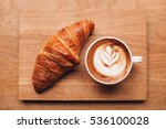 cappuccino with beautiful latte ... | Shutterstock . vector #536100028