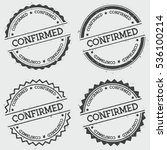 confirmed insignia stamp... | Shutterstock .eps vector #536100214