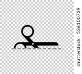 scissors icon. black icon on... | Shutterstock .eps vector #536100739