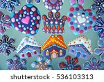 christmas card   colorful new... | Shutterstock . vector #536103313