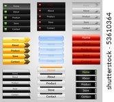 vertical web navigation   Shutterstock .eps vector #53610364