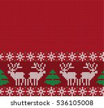 knitted christmas and new year... | Shutterstock .eps vector #536105008