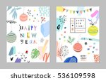 set of creative happy new year... | Shutterstock .eps vector #536109598