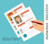curriculum vitae document icon | Shutterstock .eps vector #536115214