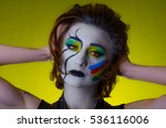 sensual girl with colorful... | Shutterstock . vector #536116006