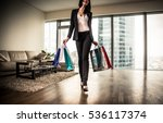 rich woman going out for... | Shutterstock . vector #536117374