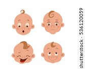 baby facial expression isolated ... | Shutterstock .eps vector #536120059