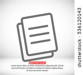 vector icon documents | Shutterstock .eps vector #536120143