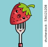 Strawberry Fruit Character...