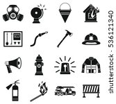 fireman tools icons set. simle... | Shutterstock .eps vector #536121340