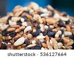 Pile Of Nuts And Raisins  ...