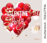 valentine's day party... | Shutterstock .eps vector #536127946