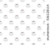 white cup of coffee pattern....   Shutterstock .eps vector #536128114