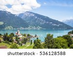 spiez castle lies by the lake...   Shutterstock . vector #536128588