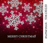 christmas banner with glowing... | Shutterstock .eps vector #536130220