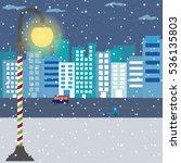 City X Winter Background