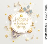 happy new year greeting card... | Shutterstock .eps vector #536144008