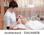 permanent makeup. eyelash... | Shutterstock . vector #536146858