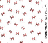 seamless pattern with small red ... | Shutterstock .eps vector #536148874