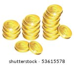 Vector Golden Coins With...