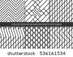 collection of vector striped... | Shutterstock .eps vector #536161534