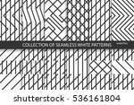 collection of geometric... | Shutterstock .eps vector #536161804