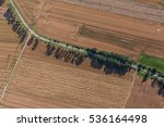 aerial view of green harvest...   Shutterstock . vector #536164498