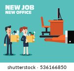 welcome to the new job vector... | Shutterstock .eps vector #536166850