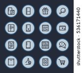 kitchen appliances web icons | Shutterstock .eps vector #536171440