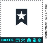 bookmark icon flat. simple...   Shutterstock .eps vector #536174500