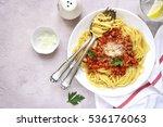 Spaghetti Bolognese In A White...