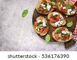 italian bruschetta with... | Shutterstock . vector #536176390