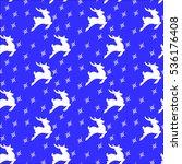 seamless christmas pattern deer | Shutterstock .eps vector #536176408