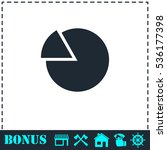 chart icon flat. simple vector...