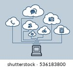cloud computing concept | Shutterstock .eps vector #536183800