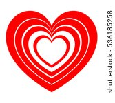 red hearts in each other and... | Shutterstock .eps vector #536185258