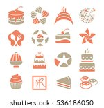 cakes logo set in vintage style.... | Shutterstock .eps vector #536186050