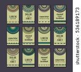 vintage banners cards set.... | Shutterstock .eps vector #536189173