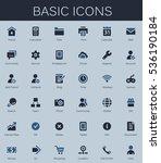 basic web icons. modern vector... | Shutterstock .eps vector #536190184