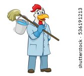 rooster cleaner vector... | Shutterstock .eps vector #536191213