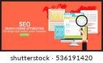 seo optimization icons. web...   Shutterstock .eps vector #536191420