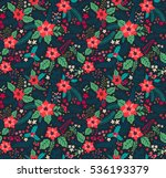 seamless floral pattern with... | Shutterstock .eps vector #536193379