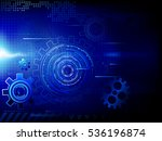 background with gears. raster... | Shutterstock . vector #536196874