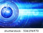 blue background with globe.... | Shutterstock . vector #536196970